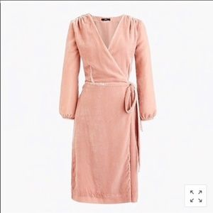 NEW J.Crew pink velvet Size 12 wrap dress